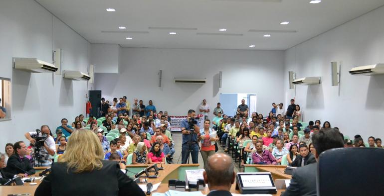 Apresentação do projeto na semana passada lotou o plenário