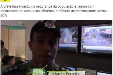 Propaganda oficial da Prefeitura apresentou dados questionáveis da segurança pública