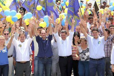 Juraci, Lissauer, Marconi e Heuler em evento de campanha em 2014