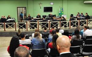 Tribunal do Júri: Estão sendo ouvidas três testemunhas de acusação equatro de defesa (Crédito da foto: TJ-GO)