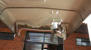 Antes mesmo de ficar pronta, estrutura já apresenta avarias (Foto: Facebook Lúcia Batista)