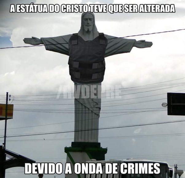 A página do Rio Verde da Depressão no Facebook utilizou um símbolo da cidade para ironizar a situação