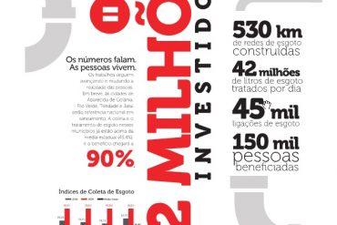 Propaganda da Odebrecht publicada neste domingo (30) no jornal O Popular (Reprodução)