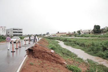 Situação da avenida menos de um mês depois de ser entregue pelo ex-prefeito Juraci Martins (Fotos: Prefeitura de Rio Verde)