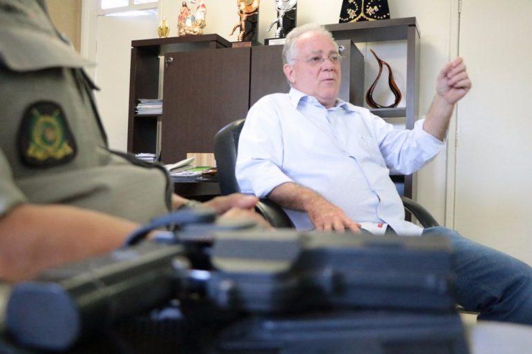 Paulo do Vale: aporte mensal de R$ 250 mil para as forças de segurança (Foto: Polícia Militar)